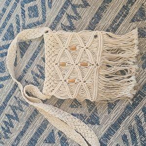 O'Neill macrame crossbody bag